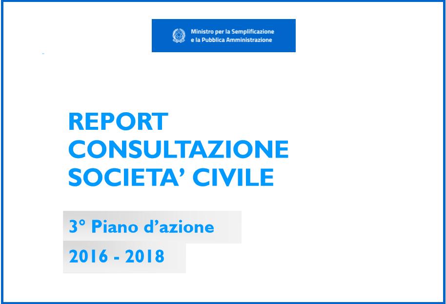 Pubblicato il report sulla consultazione per il terzo piano sull'open government: le pubbliche amministrazioni rispondono ai cittadini