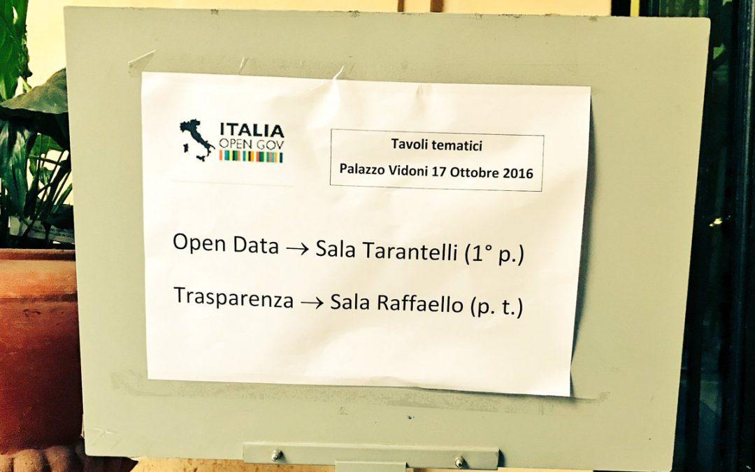 Attuazione del 3° Piano d'azione italiano per l'Open Government: continua la collaborazione con la società civile