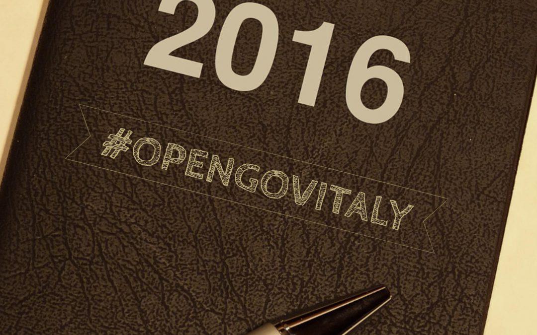 Il 2016 di #opengovitaly