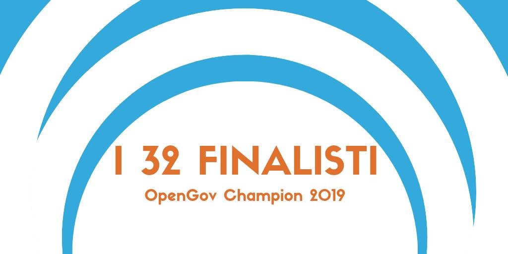 I progetti finalisti del Premio OpenGov 2019