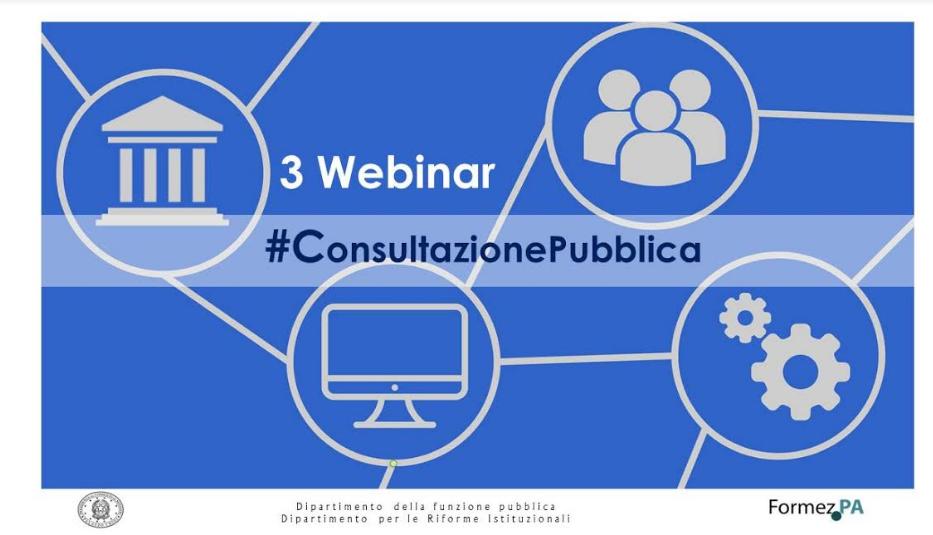 Formazione online su consultazioni pubbliche