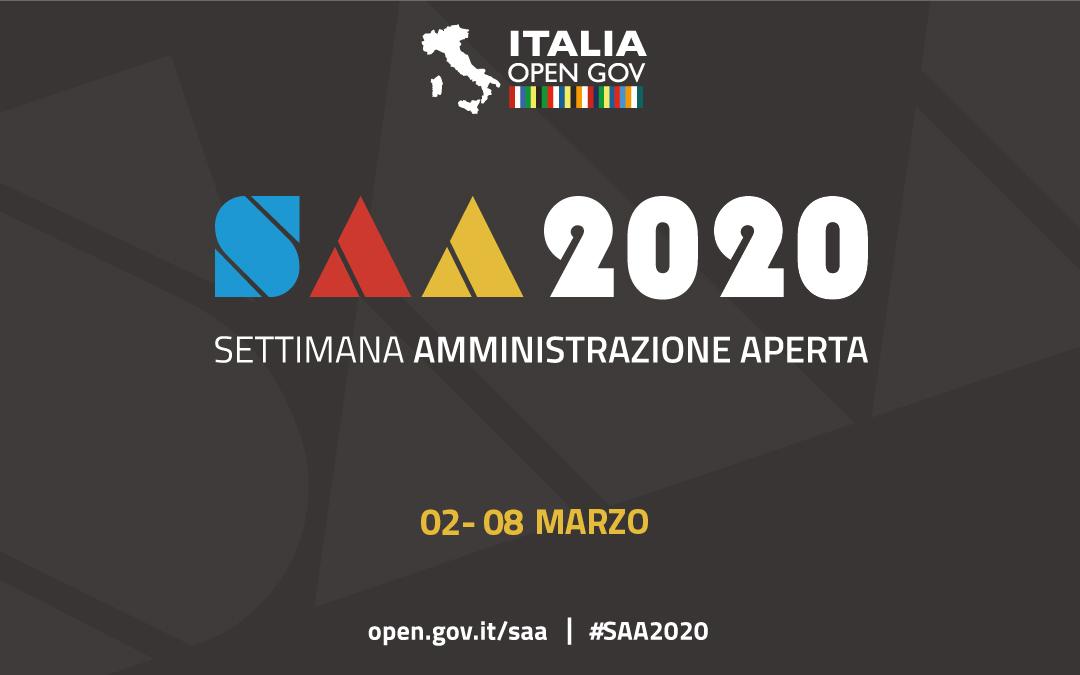 Settimana dell'Amministrazione Aperta (#SAA2020): dal 2 all'8 marzo 2020
