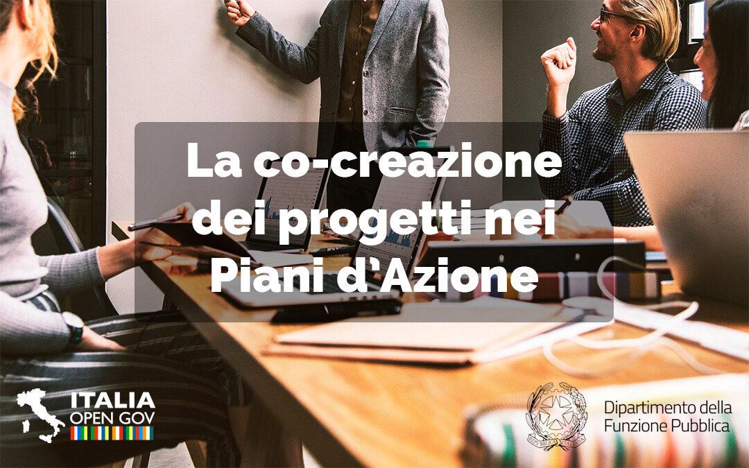 Il processo di co-creazione dei progetti nei Piani d'Azione