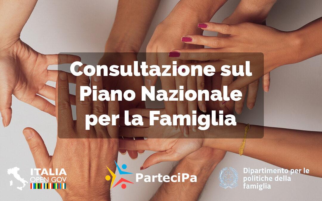 Online la consultazione pubblica sul Piano Nazionale per la Famiglia