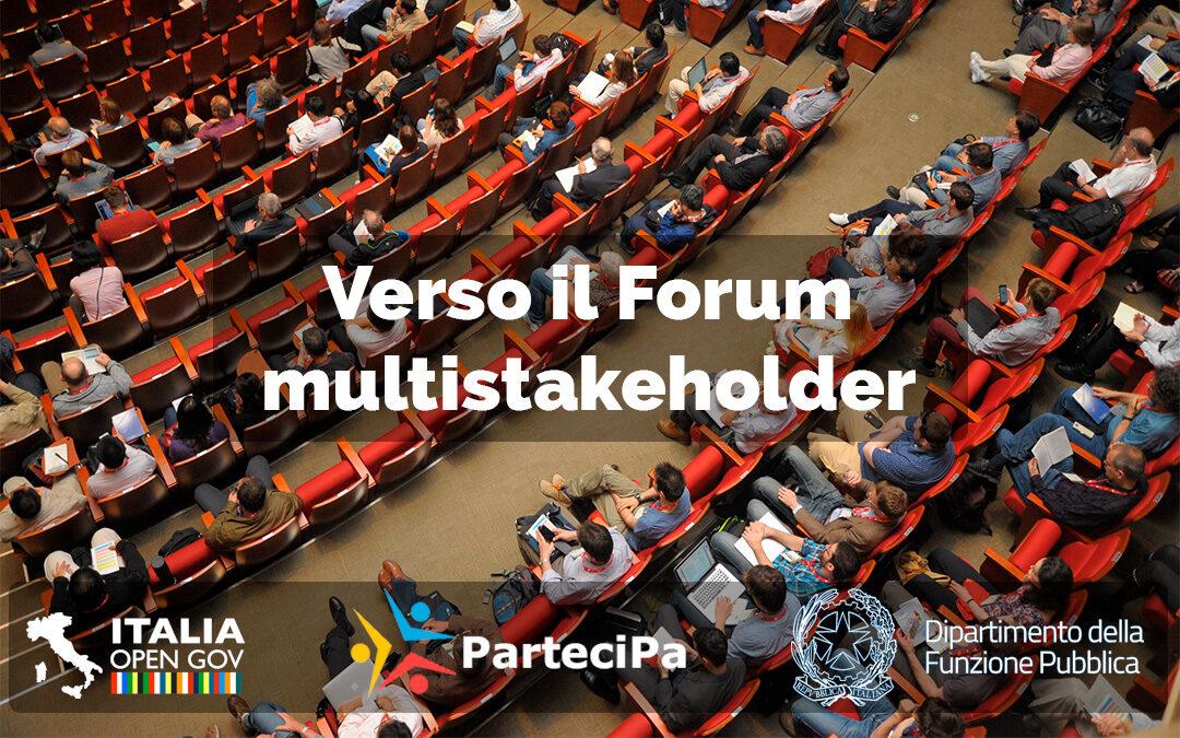 Il Forum Multistakeholder nella prima consultazione del quinto Piano d'Azione Nazionale per l'Open Government (V NAP)