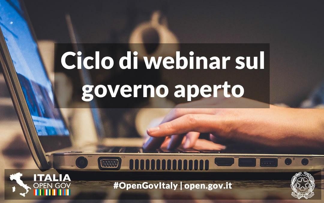 Partecipa al ciclo di webinar sul governo aperto