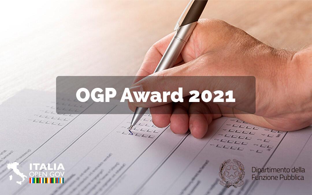 Aperte le votazioni per l'OGP Award