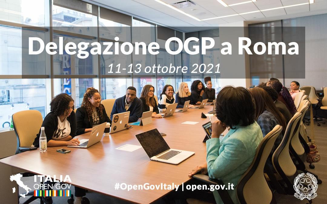Delegazione OGP a Roma. Tavoli di raccordo, apertura del Forum e premio OpenGov Champion