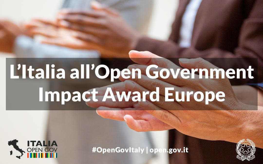 L'Italia all'Open Government Impact Award Europe: partecipa alla votazione!